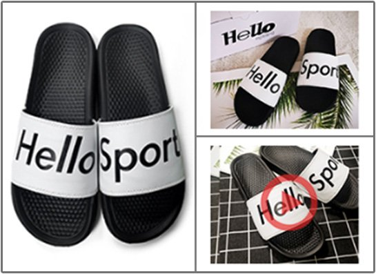 Customized slides sandals picture video service