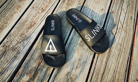 custom slides sandals logo